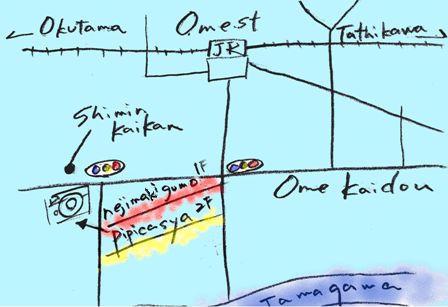 ピピカ舎の地図